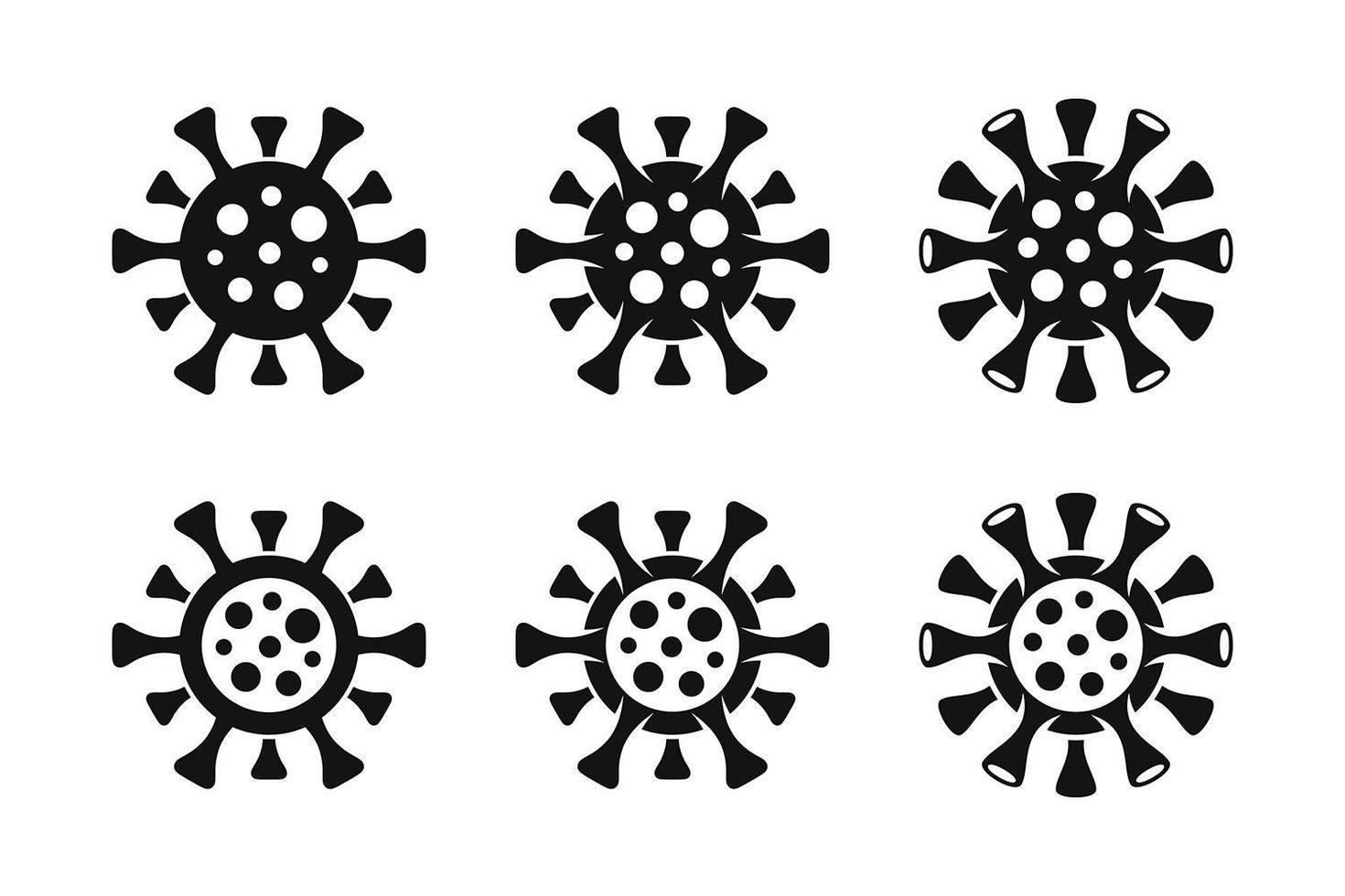minimale coronavirus covid-19 iconen vector