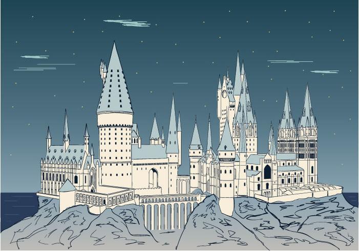 Hogwarts Achtergrond Vector