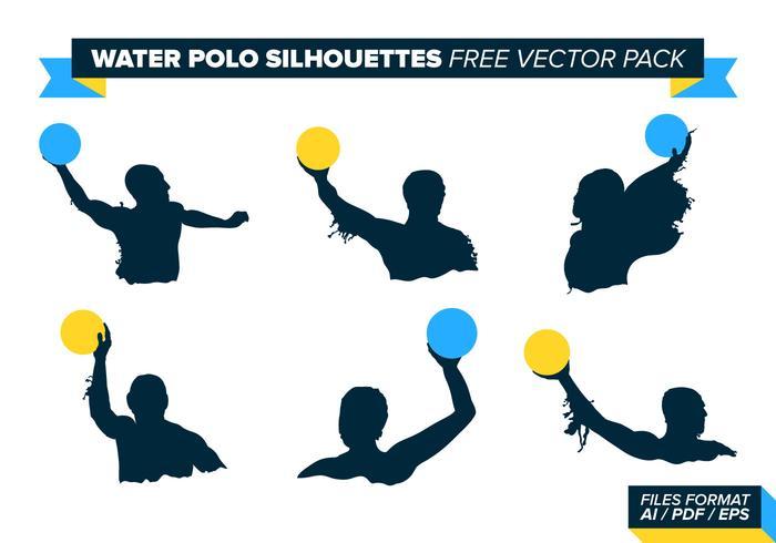 Waterpolo Silhouetten Gratis Vector Pakket