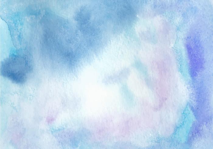 Blauwe Waterverf Gratis Vector Achtergrond