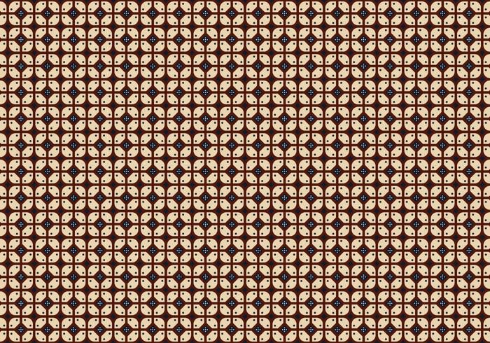 Java Batik Achtergrond Vector