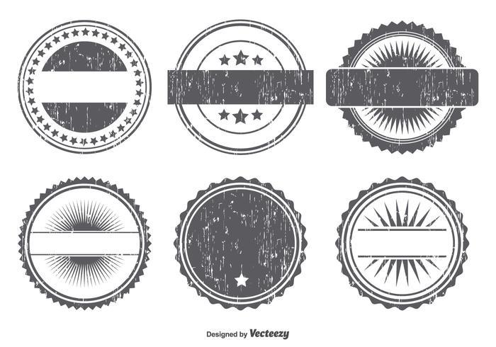 Grunge badge vorm set vector