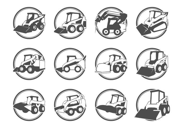Skid steer logo vector