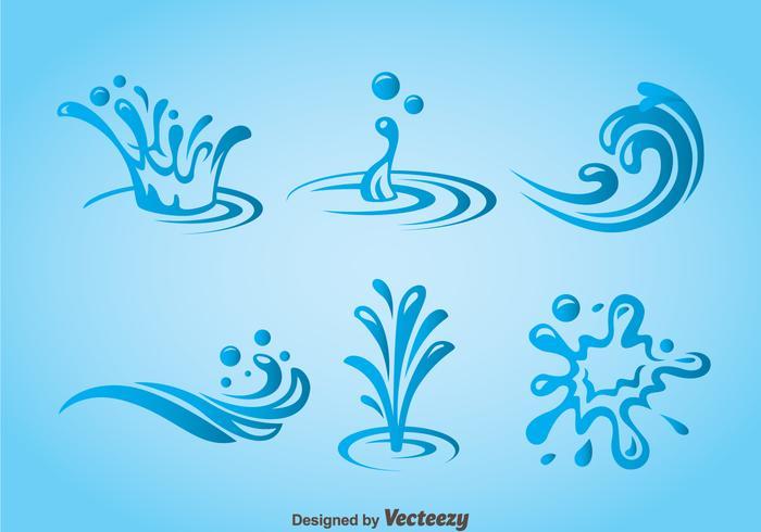 Splash Water Pictogrammen Vector