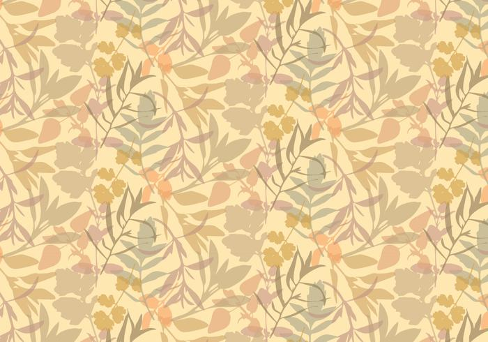 Boho Plants Leafs Patroon vector