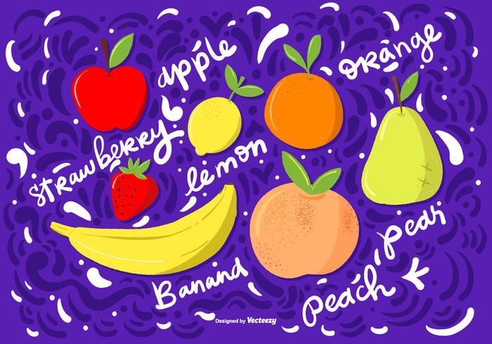 Vector Hand Getrokken Fruit Illustraties