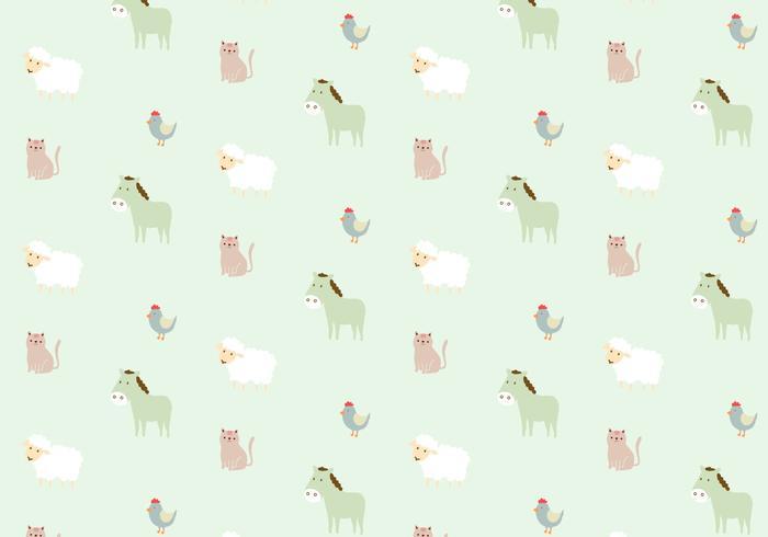 Boerderij dieren patroon achtergrond vector