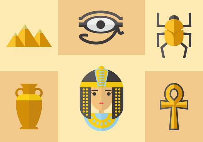 Oude Egyptische Pictogrammen Vector