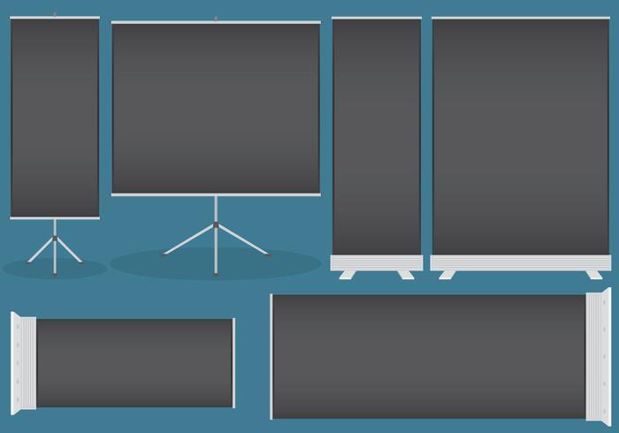 Zwarte roll up displays vector