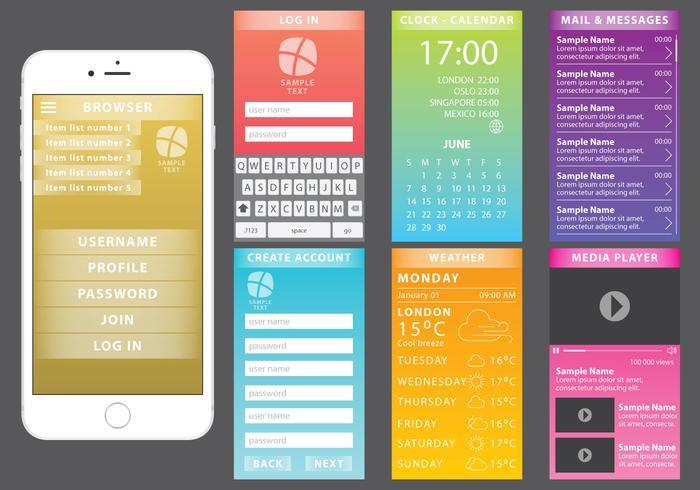 Kleurrijke webkit voor mobiele apparaten vector