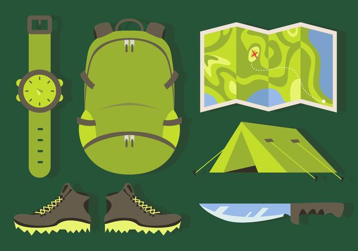 Bergbeklimmen elementen illustraties vector
