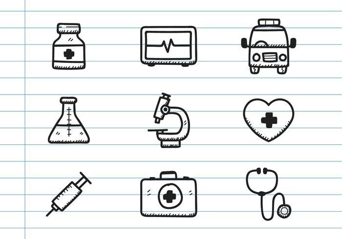 Medische Pictogram Doodle vector