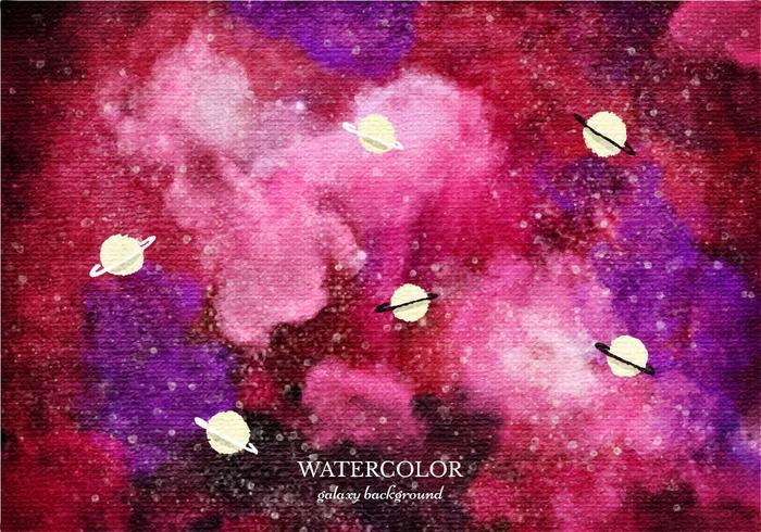 Gratis Vector Rode Waterverf Galaxy Achtergrond