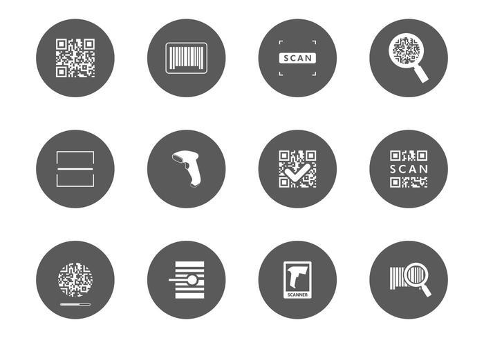 Barcode scanner icoon vector