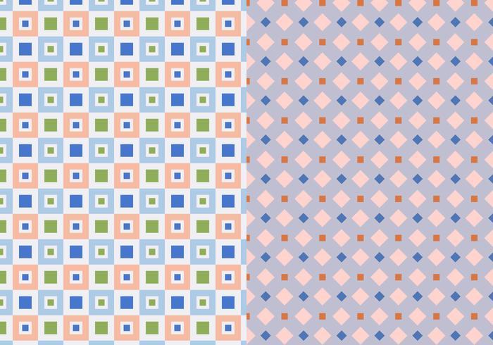 Twee Set Geometrisch Patroon vector