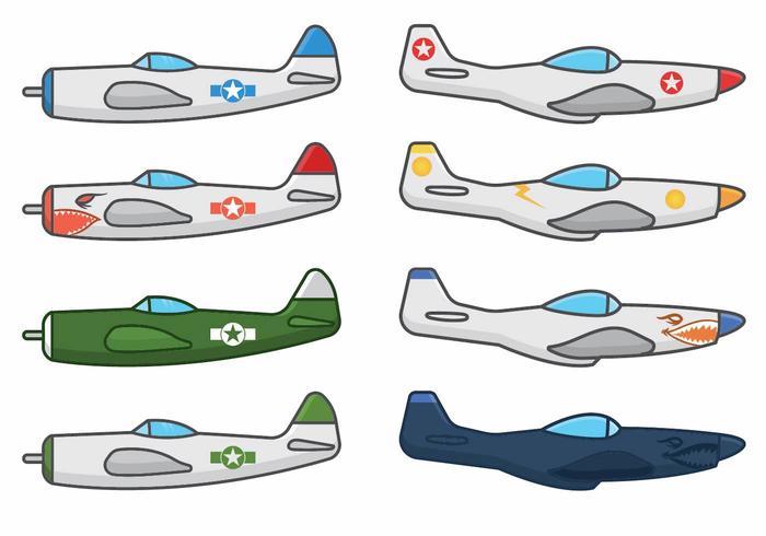 Wereldoorlog 2 vliegtuigvectoren vector