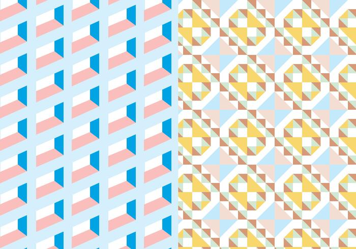 Pastel Vierkant Geometrisch Patroon vector