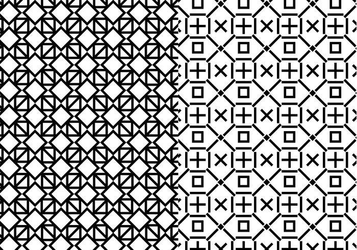 Zwart Wit Geometrisch Patroon vector