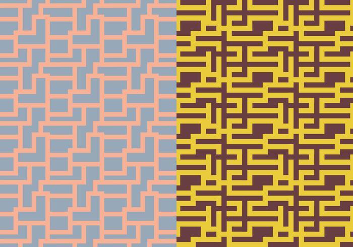 Maze Geometrisch Patroon vector