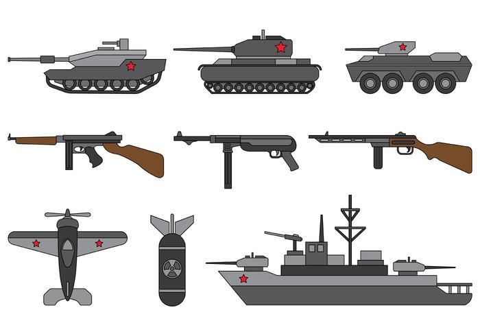 Set van Wereldoorlog 2 Vector
