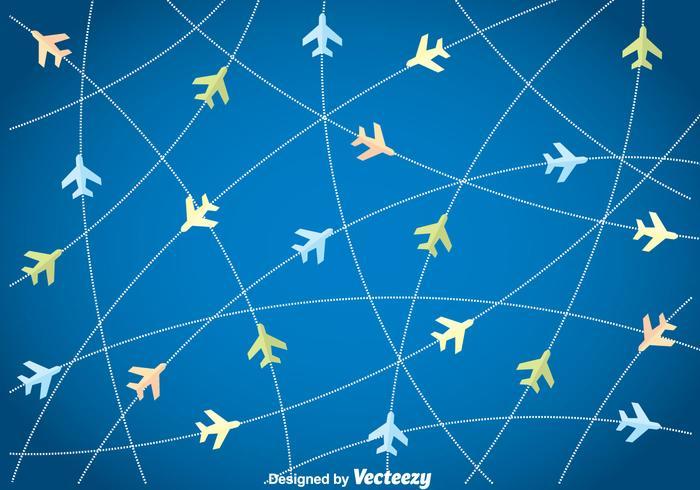 Vliegtuig Achtergrond vector