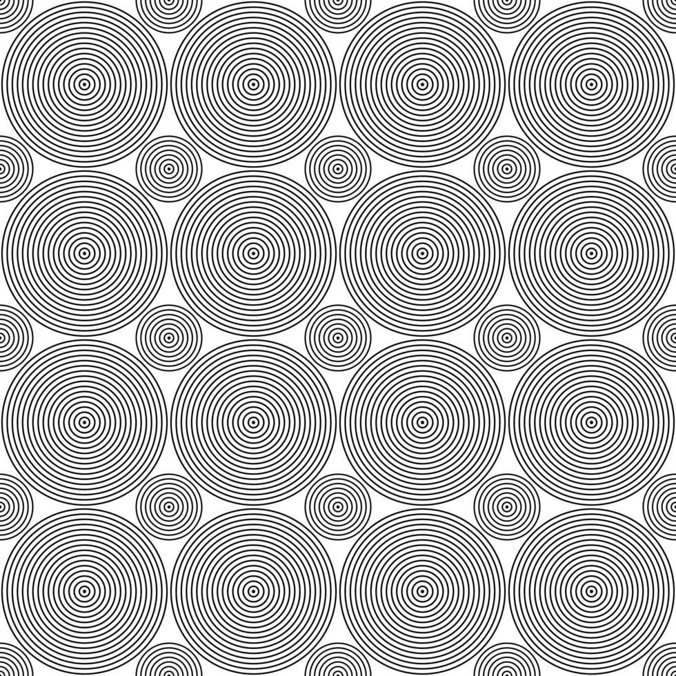 naadloze zwarte concentrische cirkels stip patroon vector