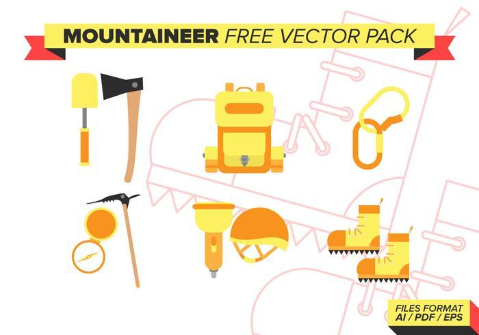 Bergbeklimmer Gratis Vector Pakket