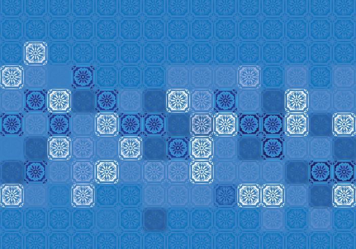 Portugese Tegelsamenstelling vector