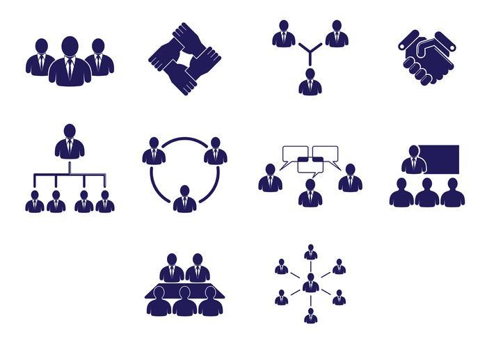 Set Samenwerken Pictogrammen vector