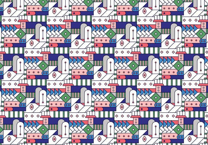 Geometrisch Decoratief Gebrandschilderd glaspatroon vector