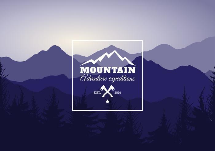 Gratis Berglandschap Vectorillustratie vector