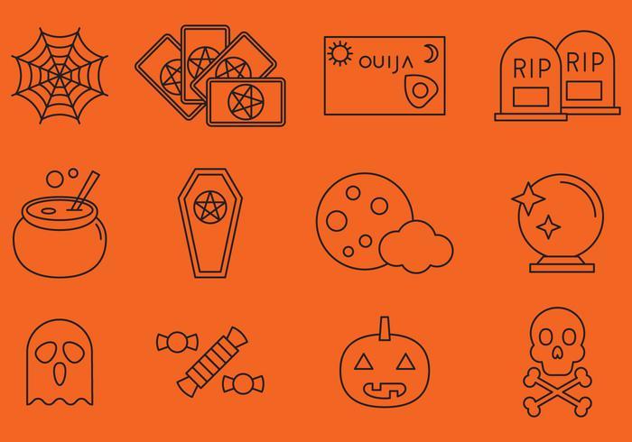 Halloween Lijn Pictogrammen vector