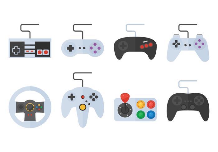 Game Pad En Button vector