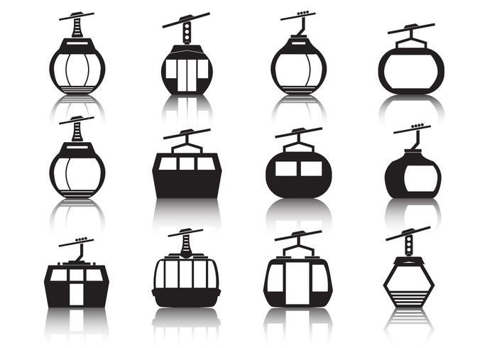 Kabelwagen Icon Set vector