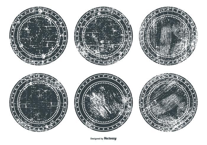 Grunge badge set vector