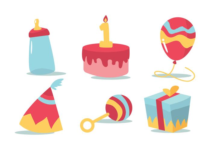 Verjaardag Vector Set