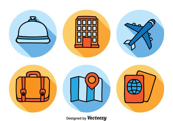 Hotel- en reispictogrammen instellen vector