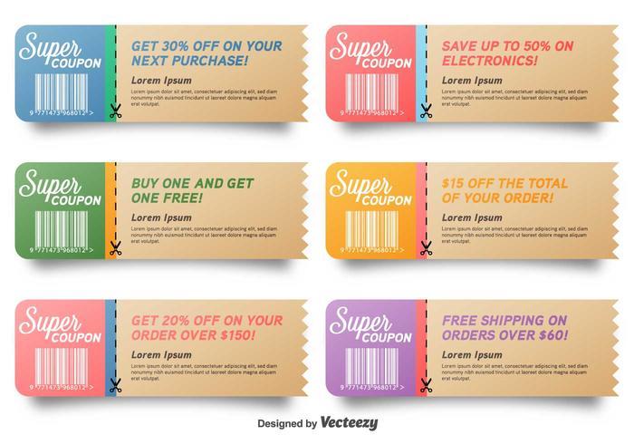 Vector coupon verkoop collectie