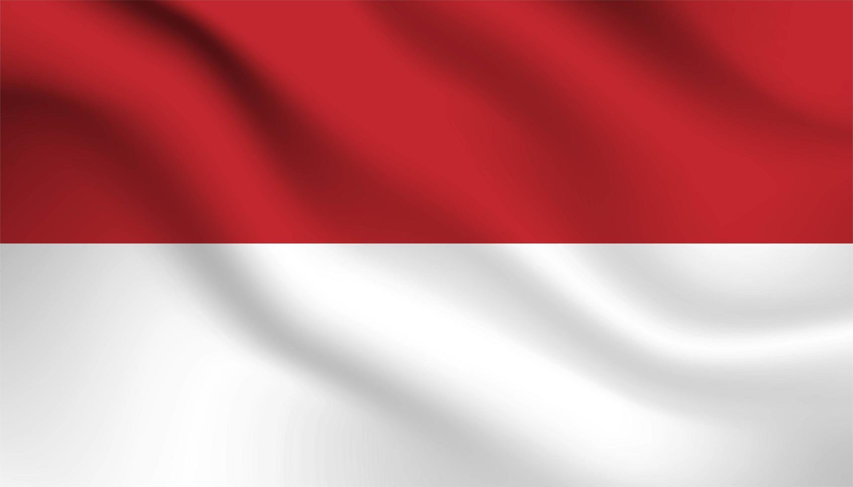 vlag van Indonesië achtergrond vector