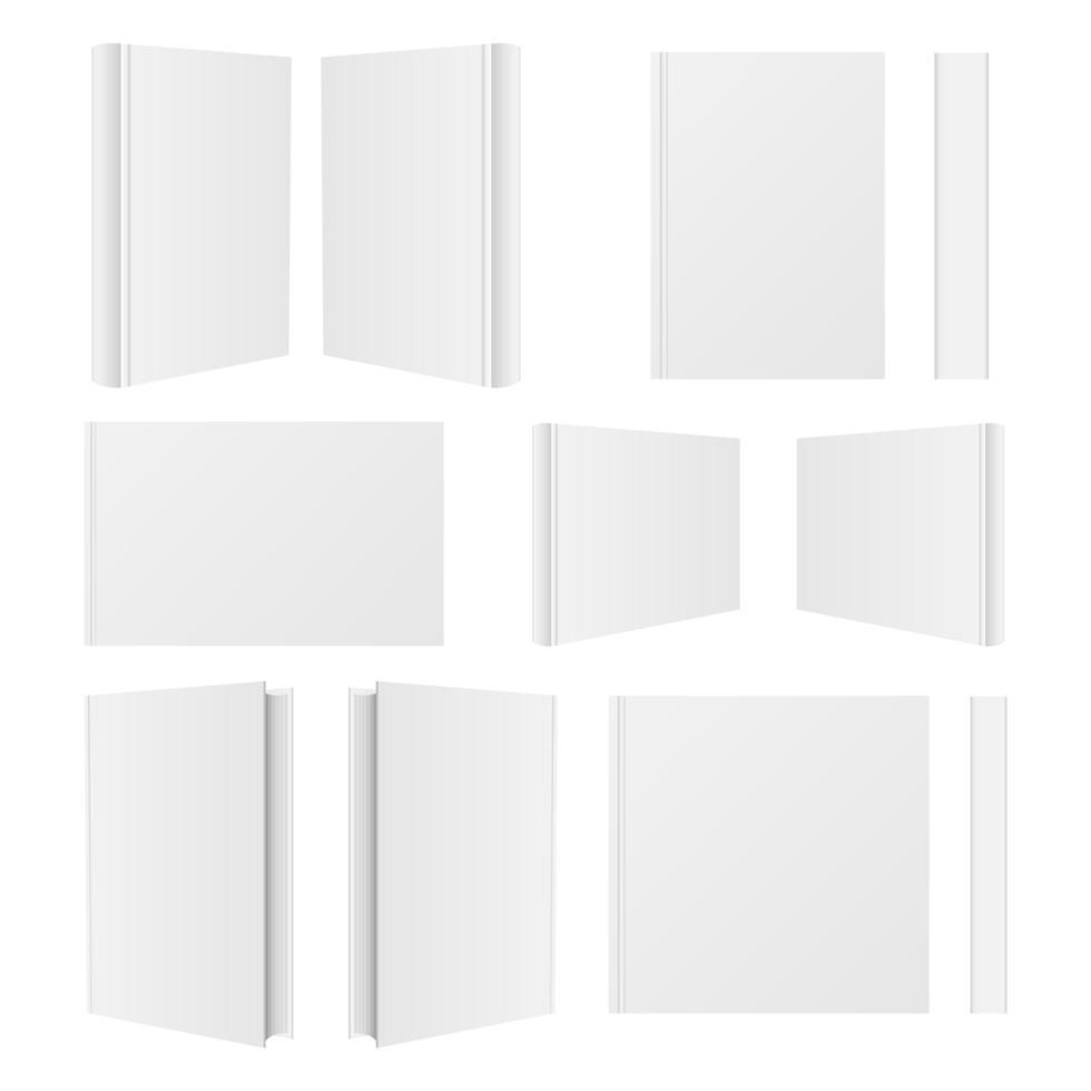 boek mockup geïsoleerd op een witte achtergrond vector