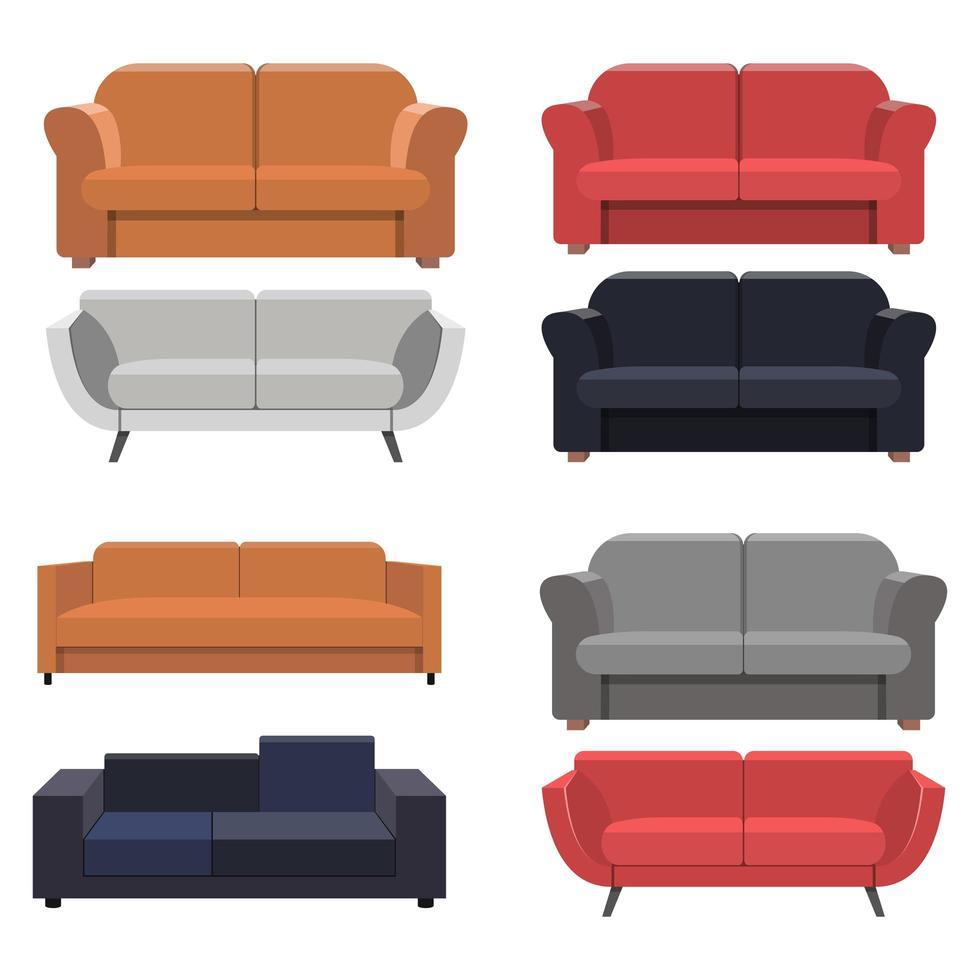 sofa geïsoleerd op een witte achtergrond vector