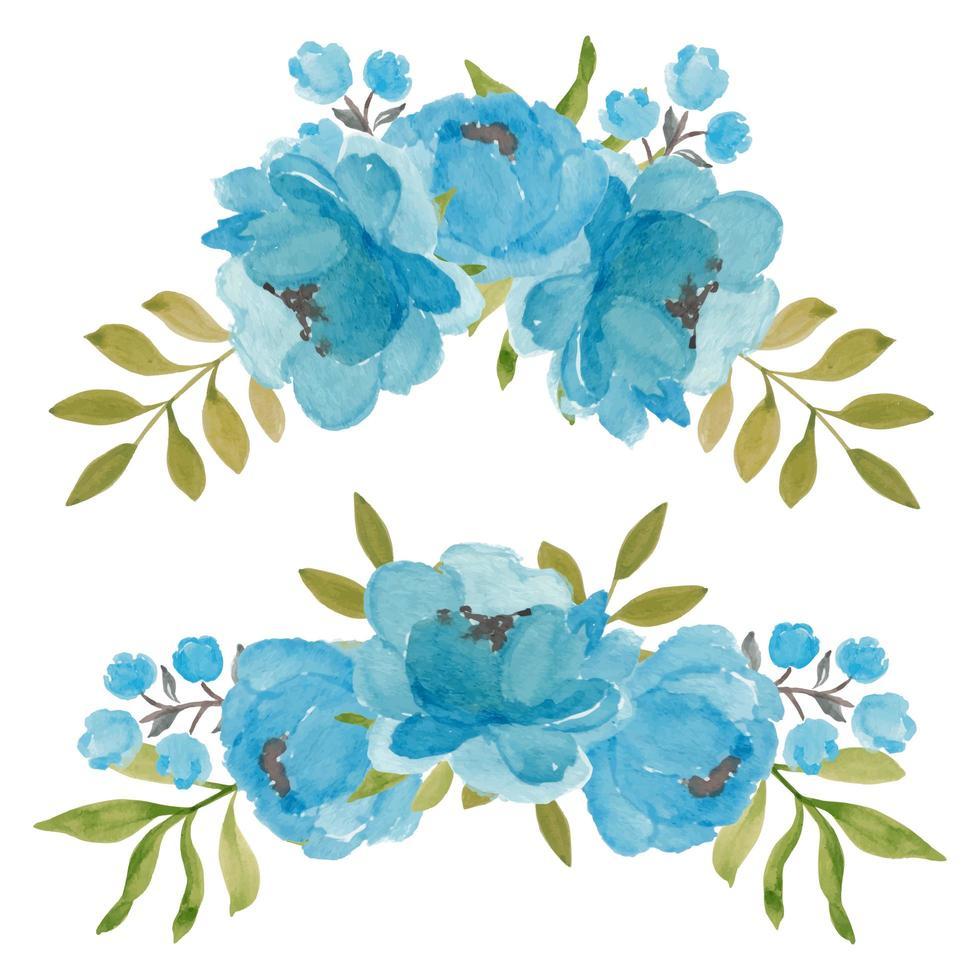 drie bloesem pioenroos bloemstuk collectie vector