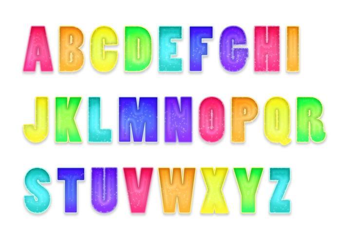Letras Letters Alfabet Set B vector