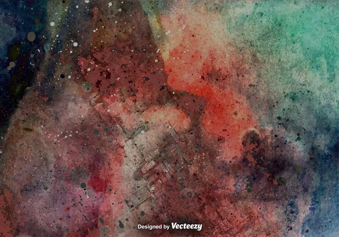 Grunge Kleurrijke Achtergrond - Vector Grunge Muur