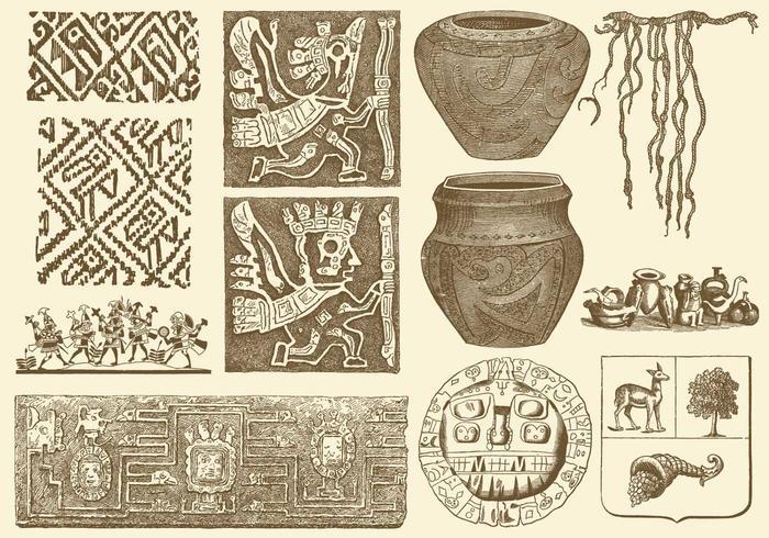 Oude Peruaanse Kunst vector