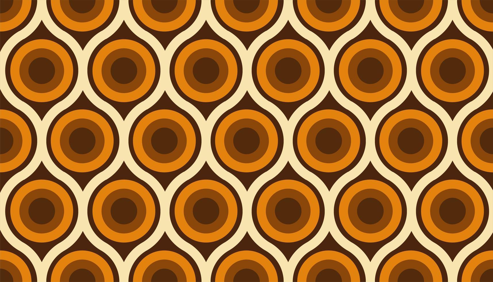 abstract jaren 60 kleurrijk naadloos patroon vector
