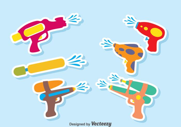 Waterpistool vector set