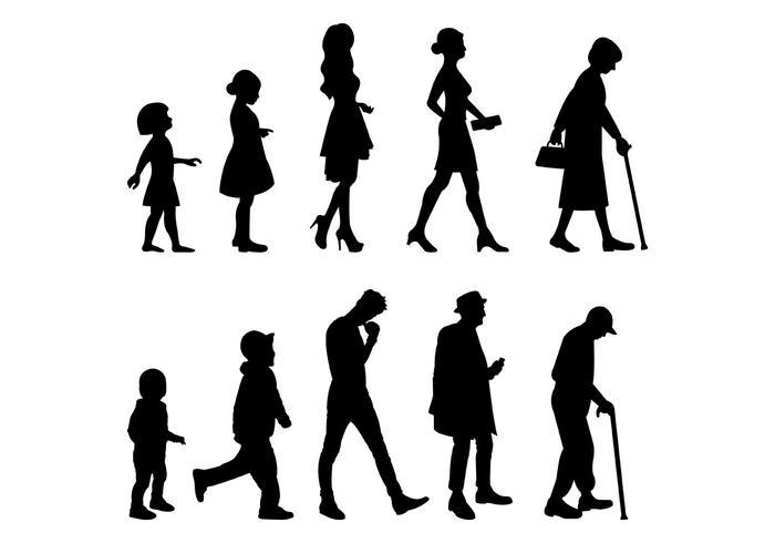 Vector Van Opgroeien Mens