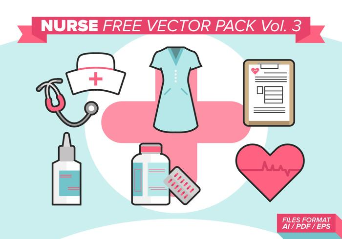 Verpleegster Gratis Vector Pack Vol. 3
