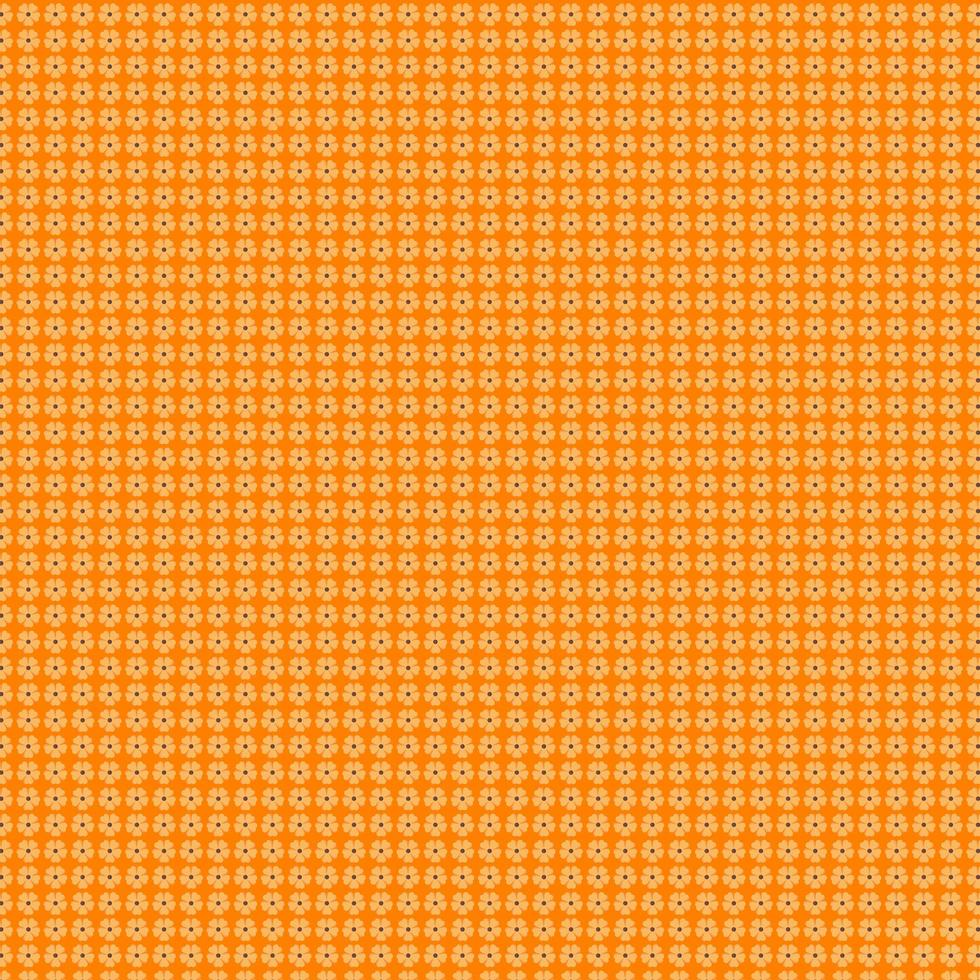 lichtoranje bloemenpatroon op oranje vector